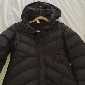 JCREW MEDIUM DOWN PUFFER CHARCOAL GREY